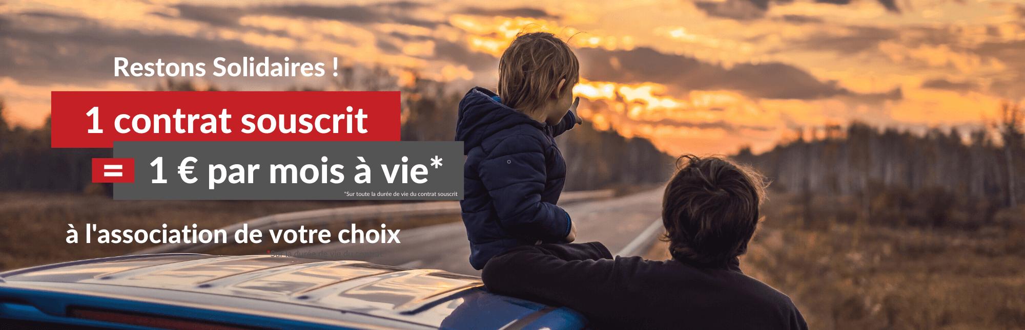Engagement associatif : Assurella s'engage à verser 1 € par mois à vie à une association pendant la durée de vie du contrat.